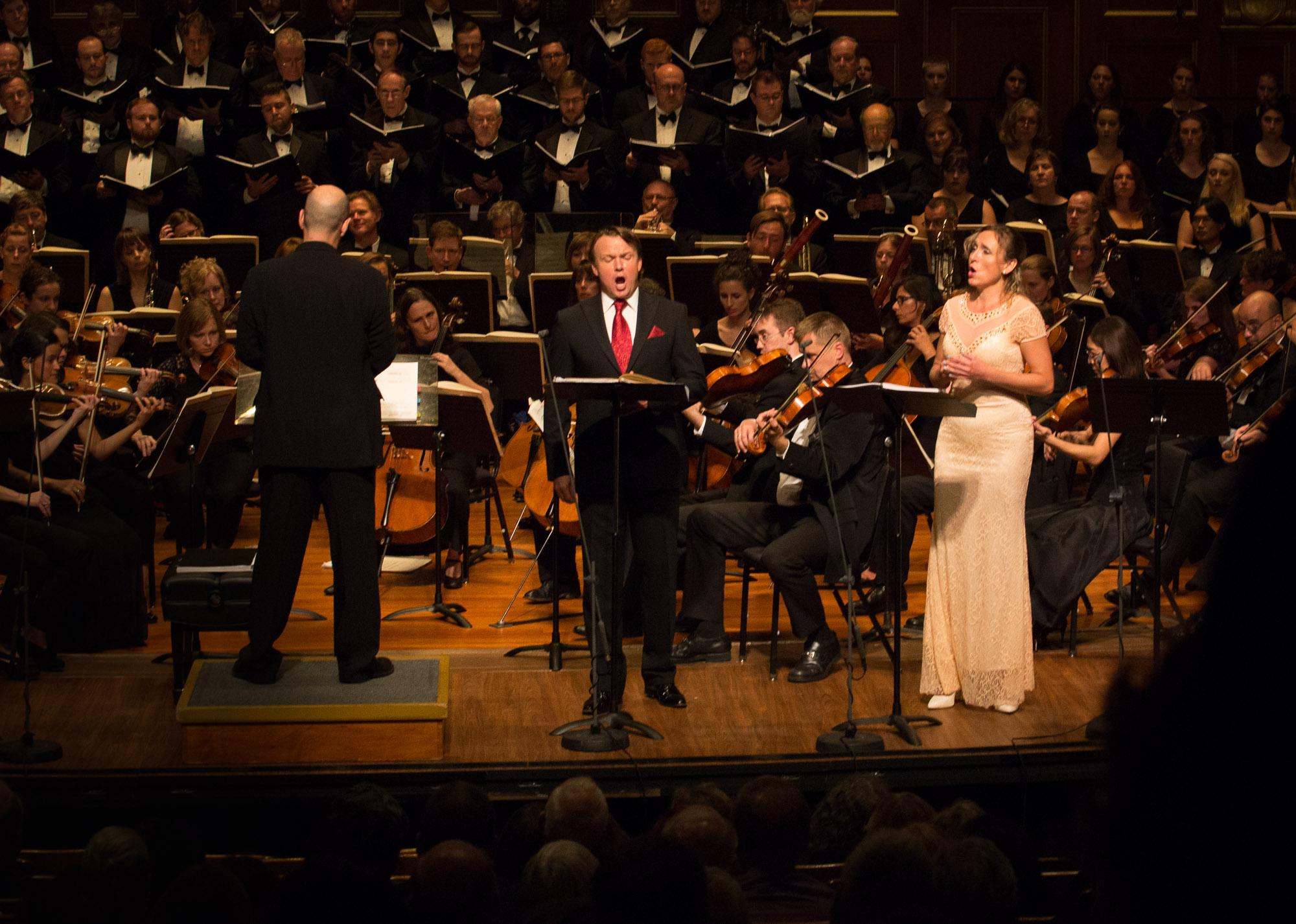 Gil Rose, Aleš Briscein and Olga Jelínková Photo by Kathy Wittman