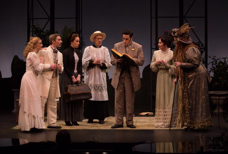 Photo of the cast of The Importance of Being Earnest, an opera by Mario Castelnuovo-Tedesco